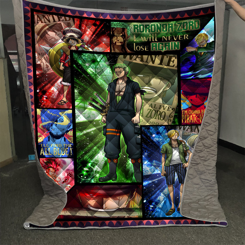 Dropshipping-Anime-One-Piece-Roronoa-Zoro-Summer-Quilt-Blanket-Mat-3D-Printed-Bed-Sofa-For-Kids (5)