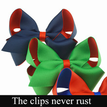 Your Bows  5Inches Girls Solid Hair Bows 100% Ribbon Bows Hairpins Fastion Hair Clips Children Headwear Hair Accessories 1pc ribbon bows girls hairpins hair accessories kids hair clips hair bows children headwear pin dress accessories ties hair clip