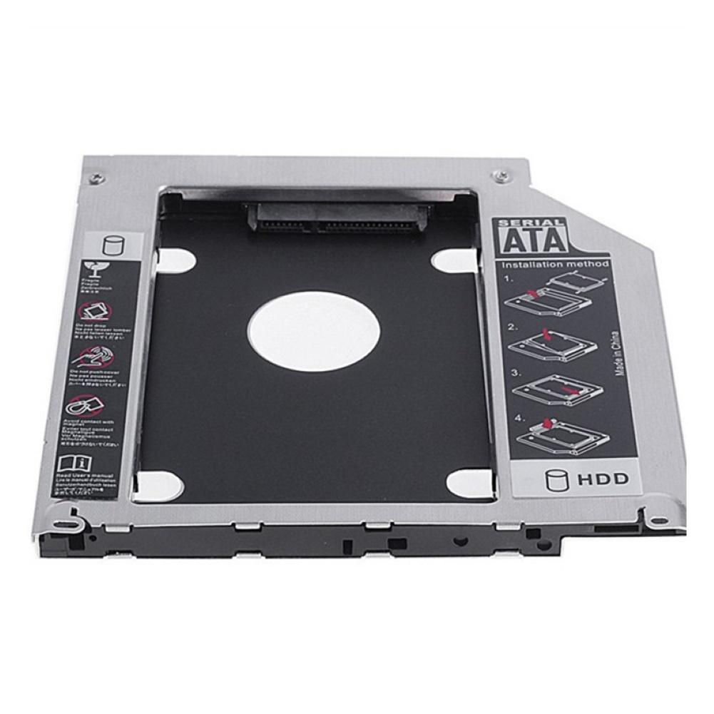 12.7mm 2.5inch SATA Hard Disk Case Tray DVD-ROM Optical Drive Caddy For PC Laptop Metal Mounting Adapter Bracket  Hard Drive