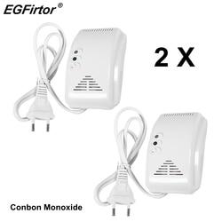 AC220V wykrywacz tlenku węgla 90Db sygnalizator akustyczny ostrzeżenie bezpieczeństwo w domu bezpieczeństwa gazu CO węgla czujnik alarmowy czujnik alarmowy