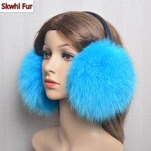 Wholesale Retail Trendy Fashion Real Fox Fur Ladies Autumn And Winter Earmuffs To Keep Warm Luxury Women Natural Fox Fur EarMuff
