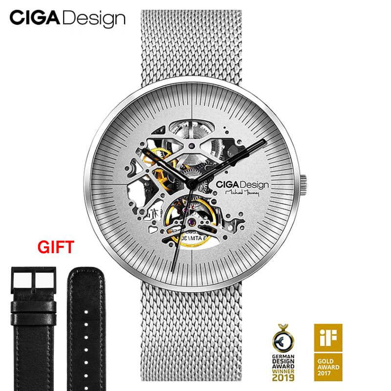 CIGA Design Top Design Brand CIGA Mechanical Watch MY Series Automatic Hollow Mechanical Watch Men's Fashion Watch