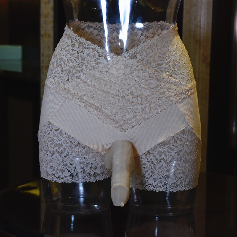 Mens Lace Slim High Waist Boxer Shorts Male Sexy Breathable Penis Pouch Sheath Cover Boxershorts Men Underwear Man Underpants
