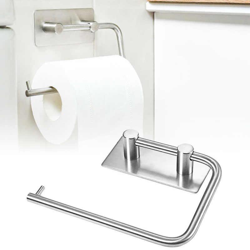 304 ze stali nierdzewnej półka kuchenna z tworzywa sztucznego uchwyt na papier toaletowy papier półka na ręczniki Home Hotel Batroom akcesoria
