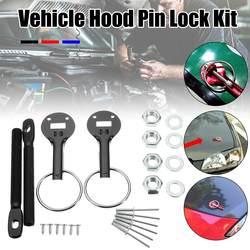 Czarny/czerwony/niebieski uniwersalny Alloy Racing samochód klapa maski zapiąć Pin Pins blokada zatrzask zamontować zestaw do hondy dla Ford dla BMW w Maski silników od Samochody i motocykle na