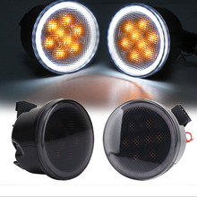 2PCS LED Car Front Turn Signal Lamps For Jeep Wrangler Light Fender Side Combo Lens Dropshipping