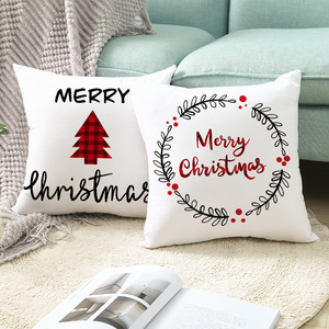 Merry Christmas Decorations for Home 45*45cm Christmas Tree Santa Claus Christmas Party Pillow Case New Year Gifts Xmas Navidad