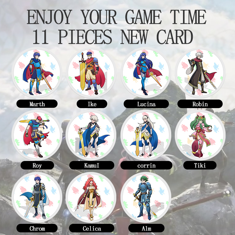 11 Pieces Fire Emblem: ThreeHouses Amiibo Cards NTAG215 Printed NFC Card With Free Storage Box