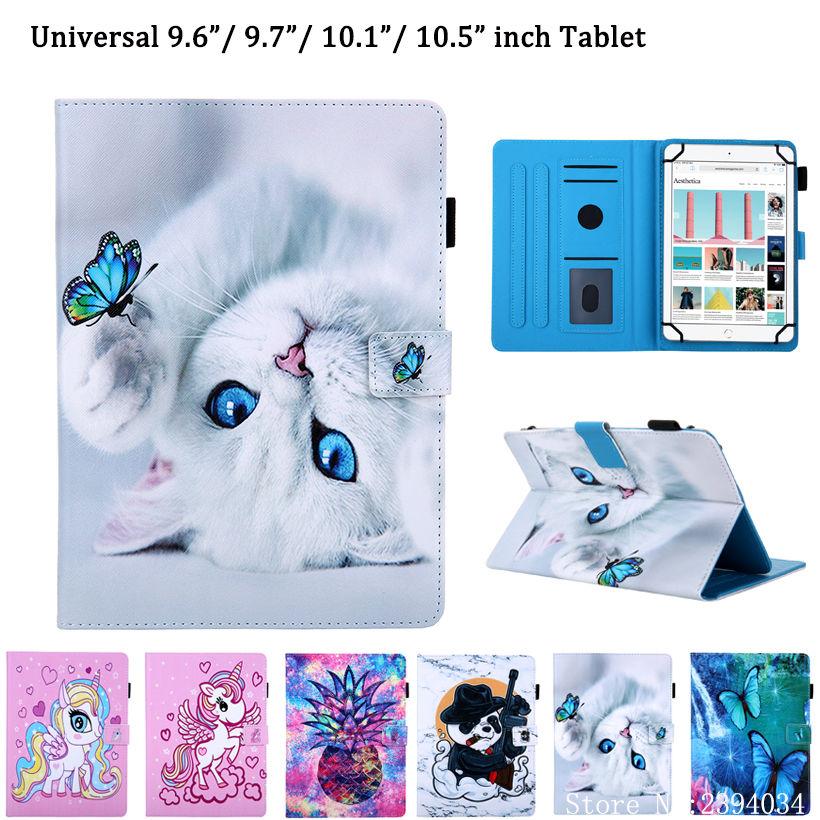 Универсальный чехол для iPad 10,2, 2019, чехол для Huawei T3, T5, M5, 9,6, 9,7, 10, 10,1, 10,5 дюймов, планшет, чехол с милой кошкой и подставкой Чехлы для планшетов и электронных книг      АлиЭкспресс