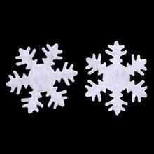 50 шт. снежинки Рождественские патчи мягкая фетровая аппликация аксессуары DIY ремесло для рождественской елки Декор для дома комнаты окна стены орнамент