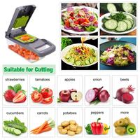 Basket vegetable slicer