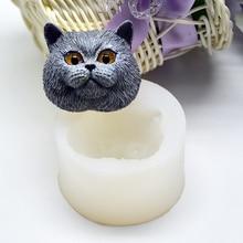 Силиконовая форма для украшения торта, форма для мыла, высокая температура, британский короткошерстный пудинг, желе, форма ручной работы, инструмент для выпечки#05