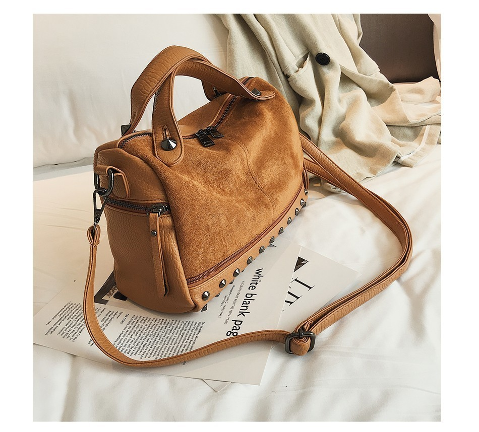 Hea2945692ffb446e8bc251ff47938b42W - Fashion Women Top-handle Bags with s Large High Quality Leather Female Shoulder Bag Vintage Motorcycle Tote Bags Sac