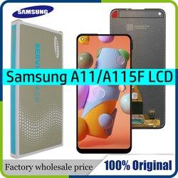 100% Оригинальный ЖК-дисплей для Samsung Galaxy A11, сенсорный экран в сборе для Samsung A115F A115F/DS, ЖК-дисплей с сервисным комплектом
