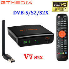 2020 New V7 S2X GTMEDIA V7S HD DVB S/S2/S2X+T/T2 Support BISS Auto Roll Full PowerVu Speed USB 3/4G Dongle Youtube Youporn