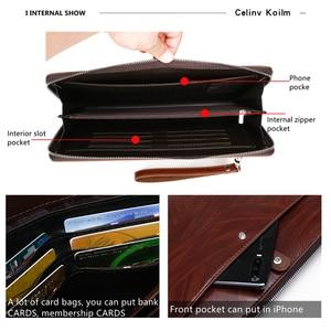 Image 4 - Celinv Koilm الرجال حقيبة صغيرة سعة كبيرة الرجال محافظ كبيرة الهاتف جيب بطاقة المرور عالية الجودة متعددة الوظائف بوس حقيبة يد للرجال