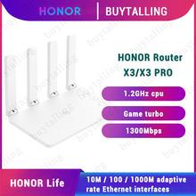 100 oryginalny bezprzewodowy Router Huawei Honor WiFi X3 1300 mb s 2 4G i 5G dwurdzeniowy Router WiFi X3 Pro tanie tanio CN (pochodzenie) wireless 1x10 100 Mbps Brak Wi-fi 802 11g Firewall Domu 128MB 16MB 400Mbps 867Mbps CD13 CD35 V1 Dual Core 1 2GHz