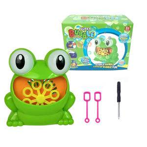 Kids Toy Blower Bubble-Maker Frog Automatic Bath-Bathtub Outdoor 12-Songs 500 Summer
