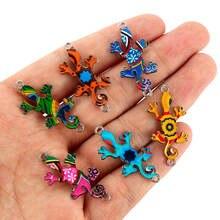 Лот 10/20 шт смешанные цвета gecko Подвески соединители кулон