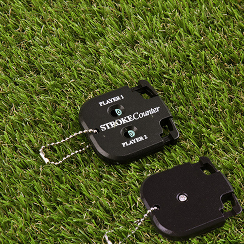 Finger Ten Golf Stroke Counter Score Count Putt Handy with Key Chain Mini Black Two Digits Practical Manual Training Aid Tools