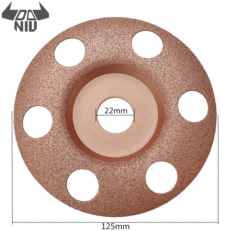 DANIU 1PC 125mm See Through Disc Tungsten Carbide Wood Shaping Dish Wood Carving Disc For Angle Grinder Tool
