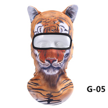 1 шт., тонкая 3D маска для лица для езды на лыжах на открытом воздухе с животными, маска для лица с капюшоном на шее, маска для всего лица, шапка NOV99