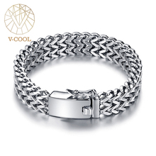 Ancient Silver Color Stainless Steel 12mm Width Buddha Bracelet For Women Chain Bangle Charms Bracelets Men Pulseira Jewelry 014