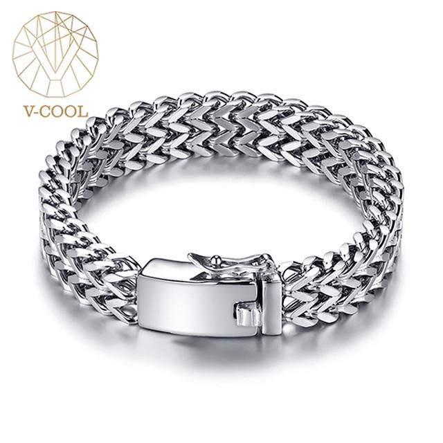 Prata antiga cor de aço inoxidável 12mm largura buda pulseira para mulher corrente bangle encantos pulseiras masculino pulseira jóias 014