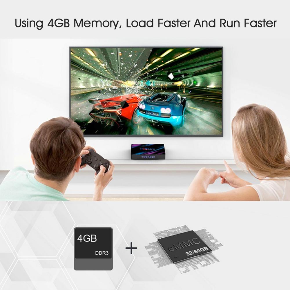 cheapest LEMFO H96 MAX Smart TV Box Android 9 0 Rockchip RK3318 4GB 64GB Bluetooth 4 0 Support HDMI 2 0 RKMC 18 1 4K H 265 HD Google Play
