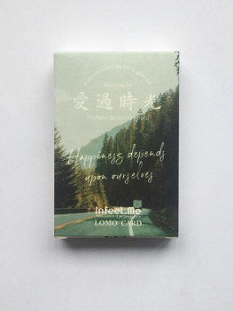 52mm*80mm Time Landscape Paper Greeting Card Lomo Card(1pack=28pieces)