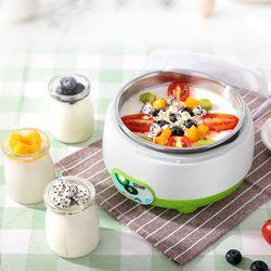 220V 1L Automatische Yoghurt Maker Machine Met 3Pcs 100Ml Yoghurt Containers Glazen Potten Diy Keuken Apparaat Hoge kwaliteit