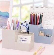 2021 New  Multifunctional Creative Simplicity Pen Holder Student Desktop Storage Box School Office Desk Accessories Organizer
