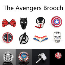 LISTE&LUKE Fashion Jewelry Hot Marvel Comics The Avengers A Logo Pin Badge Enamel Metal Brooch For Men Women Movie Fans Gift-40