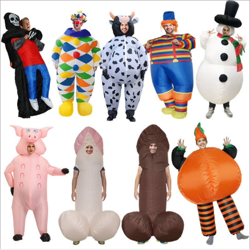 Inflatable Costumes Stage Performance Props Costume Ghost Snowman Clown Cosplay Costume Dress Halloween Party Carnival Suit