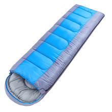 Outdoor Camping Envelope Sleeping Bag Spring, Summer, Autumn And Winter Season Travel Anti-cold Adult Warm Cotton Sleeping Bag цена 2017