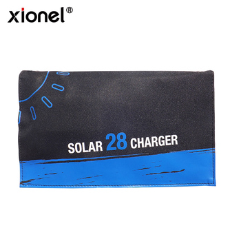 Xionel 28W Portable Foldable Solar Charger with 3 USB Ports High Efficiency Sunpower Solar Panel for Mobile phone
