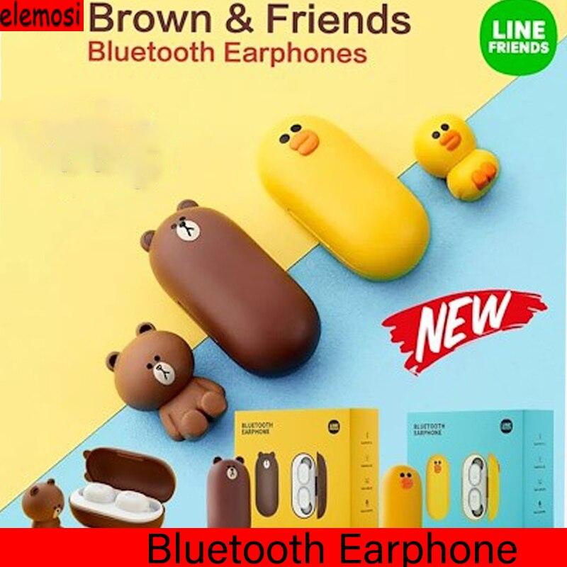 2020 Newest LINE FRIENDS TWS Wireless Bluetooth Earphones Bluetooth Headphone Ipx5 Waterproof Bluetooth Headphone For Xiaomi