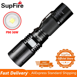 2021 SupFire X60-T 36W 2100 Lumen Powerful Flashlight With Zoom 5 Modes Light For Camping Fishing Lantern Self Defense LED Torch