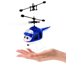Mini RC drone Infrared Induction Helicopter with Flashing Light USB Charging Intelligent Inductive Aircraft Toys Gift for Kids все цены