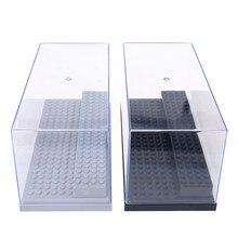 2021 expositor caso/caixa dustproof vitrine para acrílico caixa de exibição de plástico caso 2 etapas