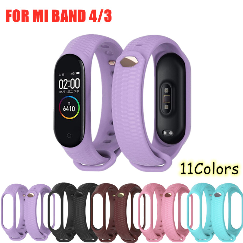 Sport Mi Band 4 3 Silicone Strap Aurora Bracelet Wrist Band For Xiaomi Mi Band 4 3 Smart Watch Pure Color Sport Miband 4 3 Strap