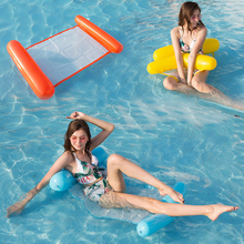 Inflatable Swimming Mattress PVC Float Chair Adult Pool Party Toy Swimming Pool Chair Swim Floating Bed Water Hammock Float 70 inch 1 9m giant swan pvc inflatable pink flamingo ride on pool floating toy swim mat for adult child float chair pf025
