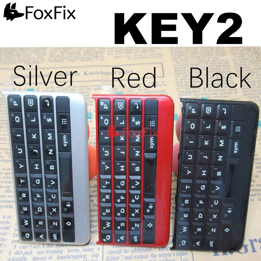 Original Keyboard For BlackBerry Key2 Keypad Button With Flex Cable For BlackBerry KeyTwo KeyBoard Replacement Black Silver Red