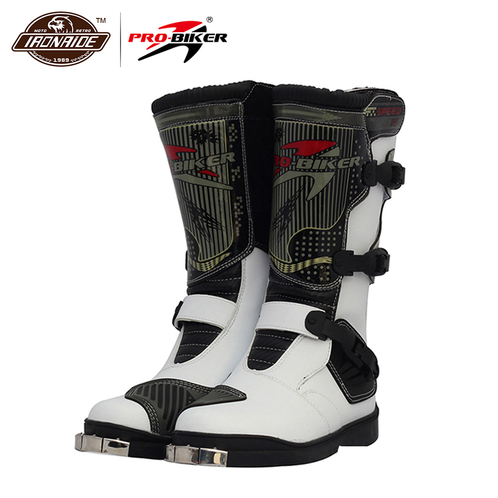 PRO-BIKER Motorcycle Boots Waterproof Motocross Boots Racing Riding Boots Off-Road Motorbike Biker Motorcycle Shoes For Men