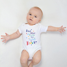 Hand-Picked Onesie Baby Bodysuit Rompers Short-Sleeve Earth-By-My-Brother Cotton
