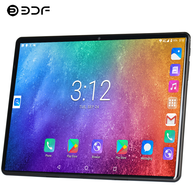10.1 Inch Tablet PC 2.5D Steel Screen 3G/4G Phone Call Android 9.0 Ten Core 8GB/128GB ROM Bluetooth Wi-FI 3G Call GPS Tablet PC