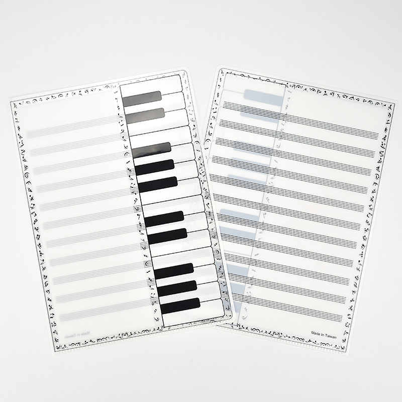 A4 Music File Folders Sheet Musical Note Folder Piano Keyboard Storage Filing Holder Writable L Document Files Office Stationery