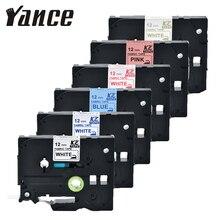 Label-Tape PT-E100B Tze-Fa231 Iron-On Fabric Compatible for P-Touch Printer