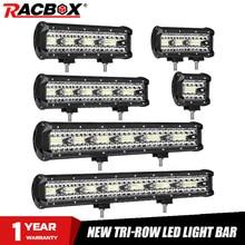 4 7 9 12 15 18 20 Inch Offroad LED Bar Lũ Điểm Combo Xà Đơn Làm Việc Đèn Sương Mù đèn Trợ Sáng Cho UAZ KTM SUV ATV Đèn Pha