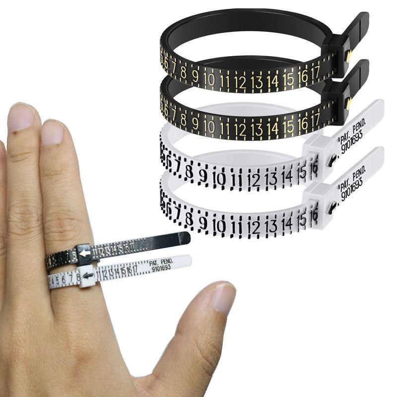 טבעת סייזר טבעת גודל Mandrel מקל אצבע מד למדוד מד גברים ונשים גדלים 1-17 מדידה תכשיטי כלים